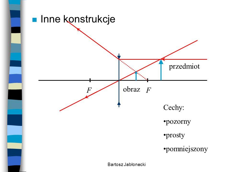 Bartosz Jabłonecki n Inne konstrukcje Cechy: pozorny prosty pomniejszony FF przedmiot obraz