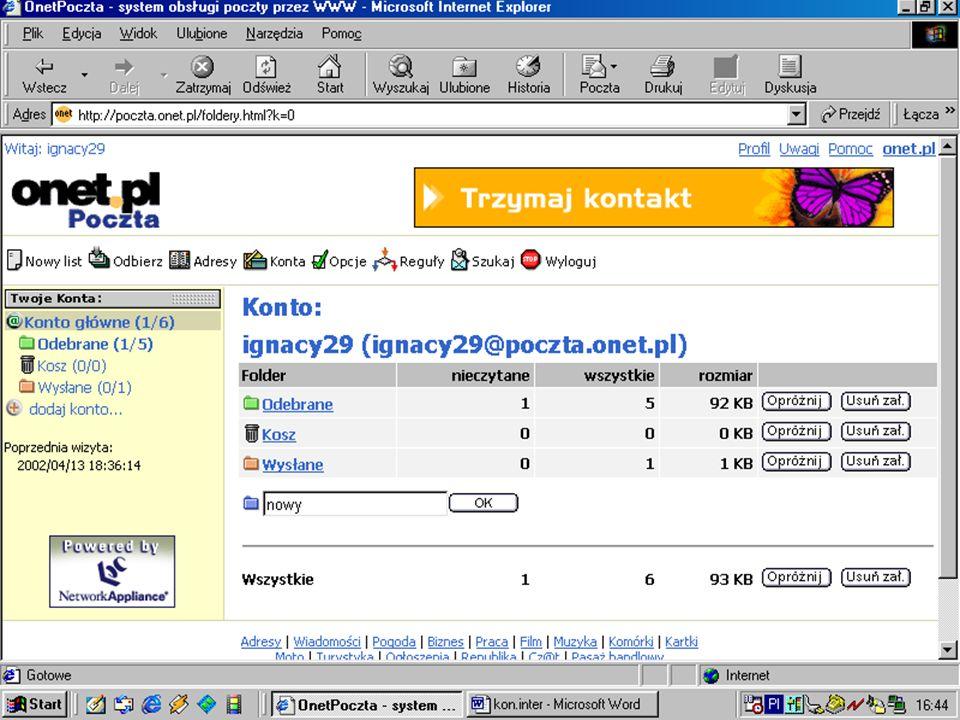 WWW Tak jak inne usługi Internetu, WWW (ang.