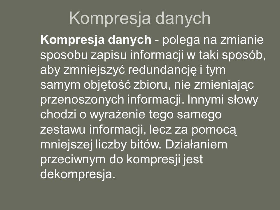 Kompresja danych c.d.