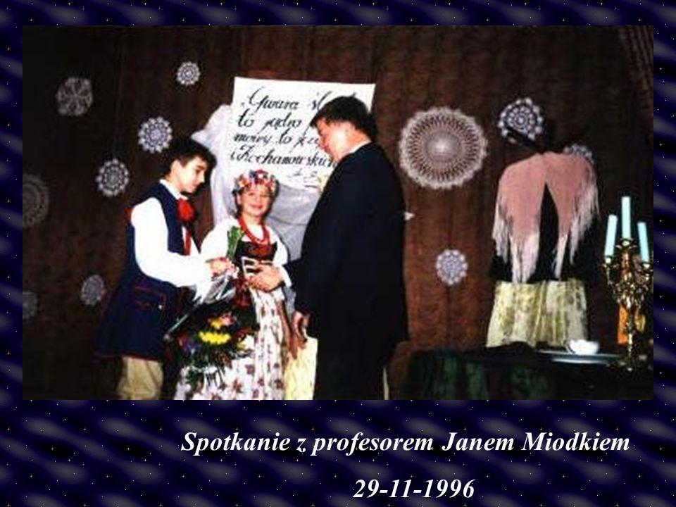 Spotkanie z profesorem Janem Miodkiem 29-11-1996