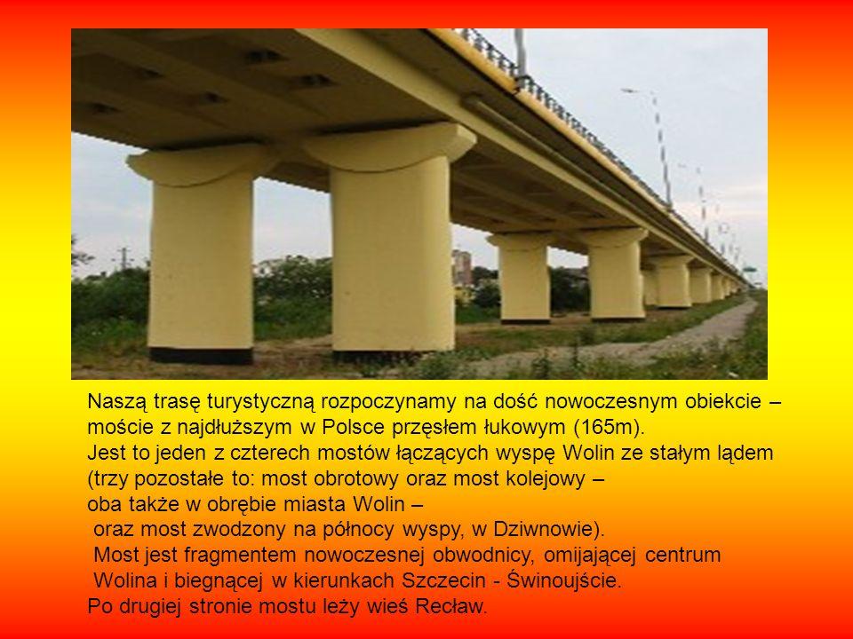 Naszą trasę turystyczną rozpoczynamy na dość nowoczesnym obiekcie – moście z najdłuższym w Polsce przęsłem łukowym (165m). Jest to jeden z czterech mo