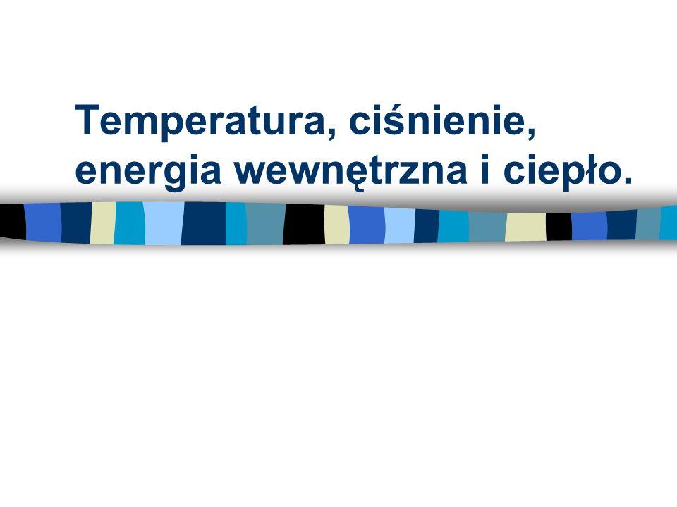 Temperatura, ciśnienie, energia wewnętrzna i ciepło.
