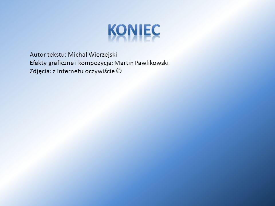 Autor tekstu: Michał Wierzejski Efekty graficzne i kompozycja: Martin Pawlikowski Zdjęcia: z Internetu oczywiście