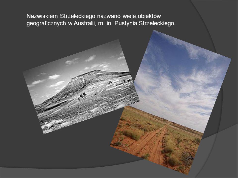 Nazwiskiem Strzeleckiego nazwano wiele obiektów geograficznych w Australii, m. in. Pustynia Strzeleckiego.