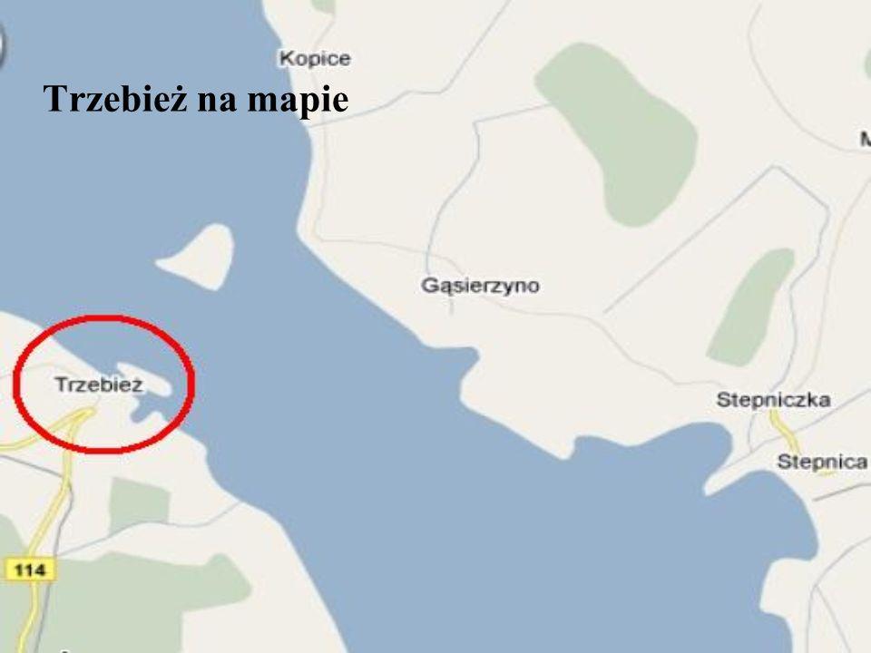 Trzebież na mapie
