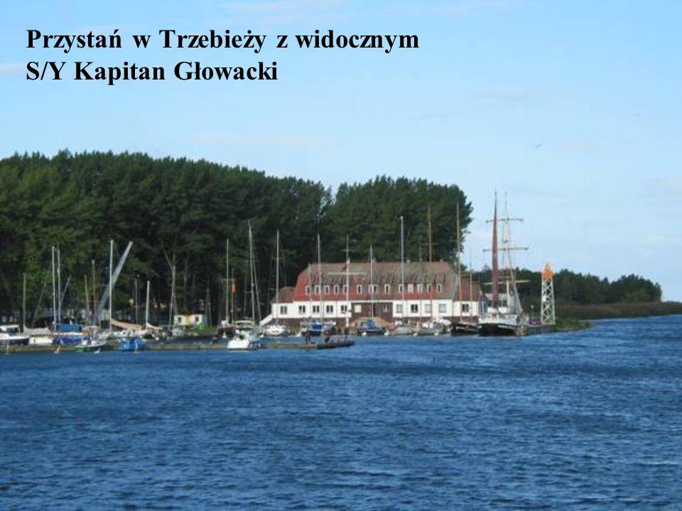 Przystań w Trzebieży z widocznym S/Y Kapitan Głowacki