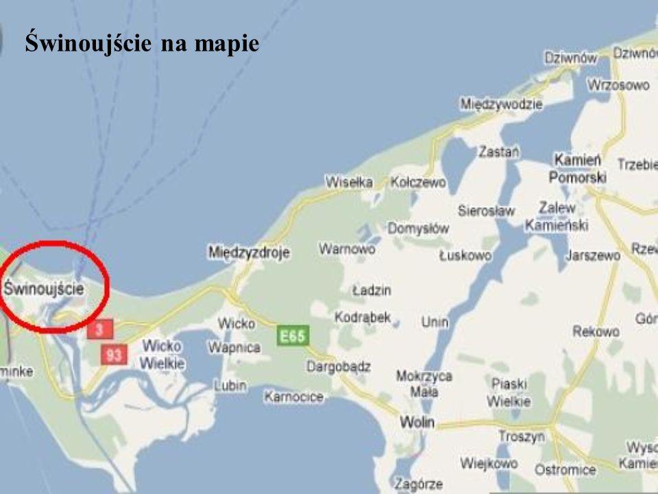 Świnoujście na mapie