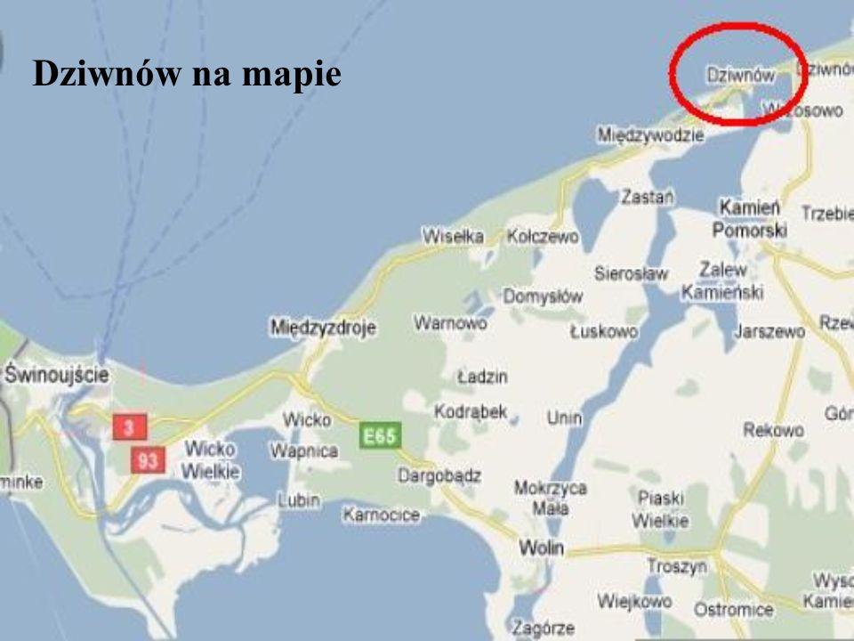 Dziwnów na mapie