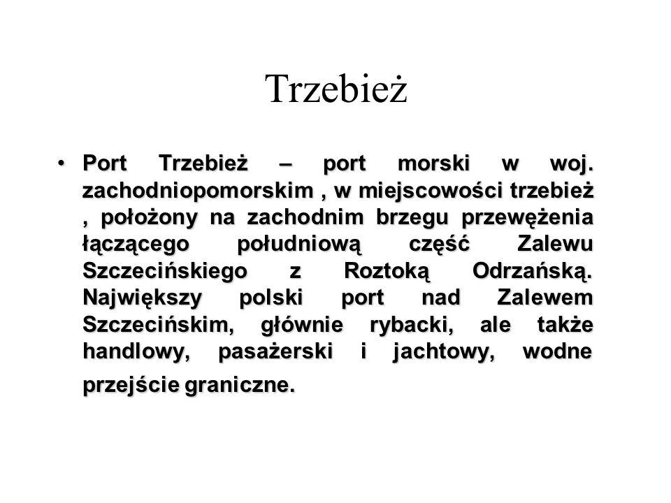 Port Trzebież – port morski w woj. zachodniopomorskim, w miejscowości trzebież, położony na zachodnim brzegu przewężenia łączącego południową część Za