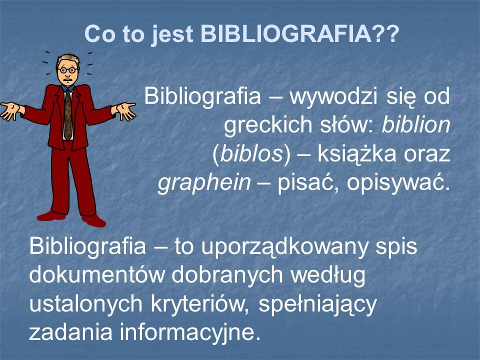 Bibliografia: Artykuł: Bibliografia załącznikowa i przypisy.