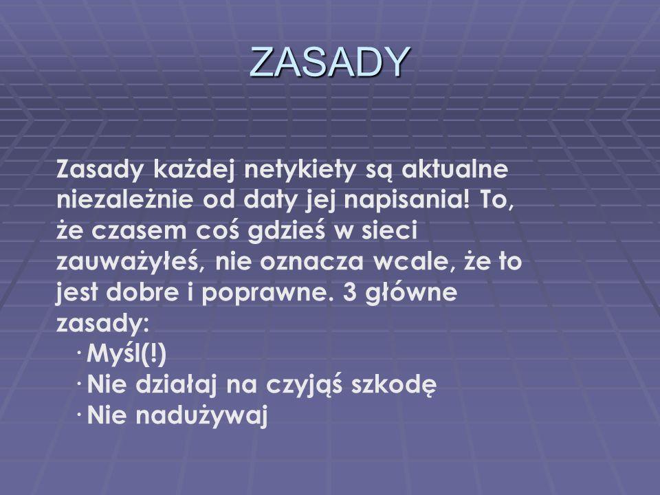 TWORZENIE Twórz strony w standardzie (kodowania literek typowo polskich, tzw.