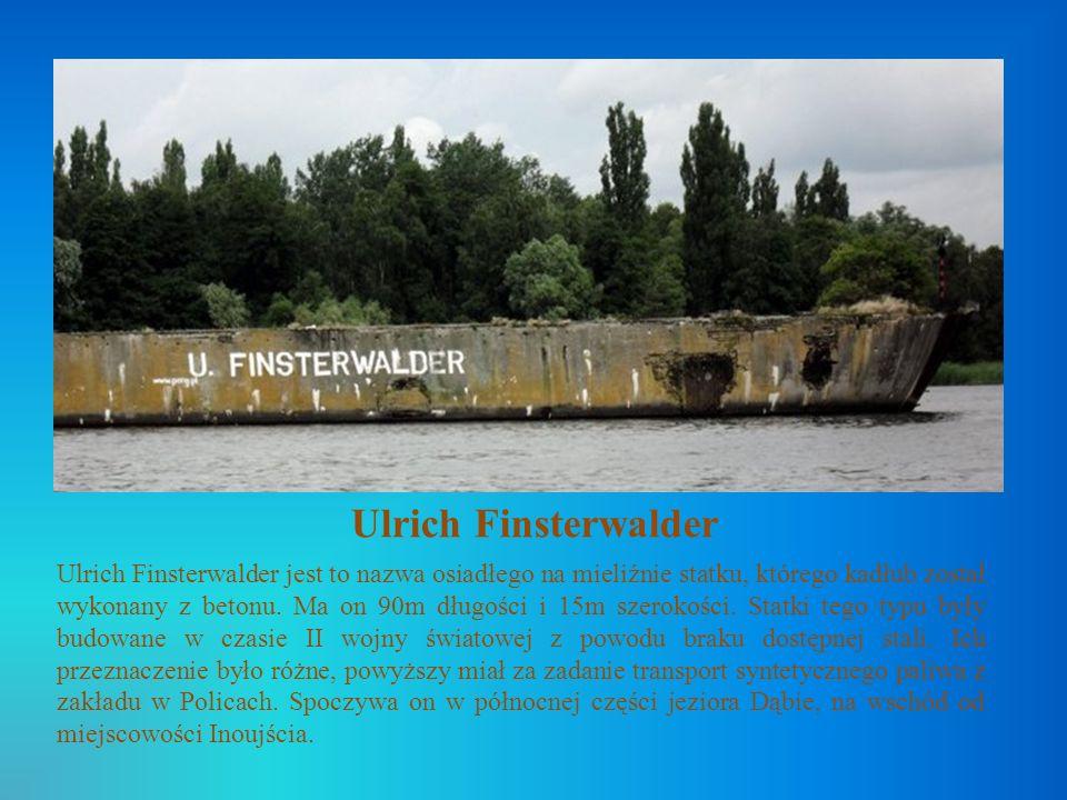 Ulrich Finsterwalder Ulrich Finsterwalder jest to nazwa osiadłego na mieliźnie statku, którego kadłub został wykonany z betonu. Ma on 90m długości i 1