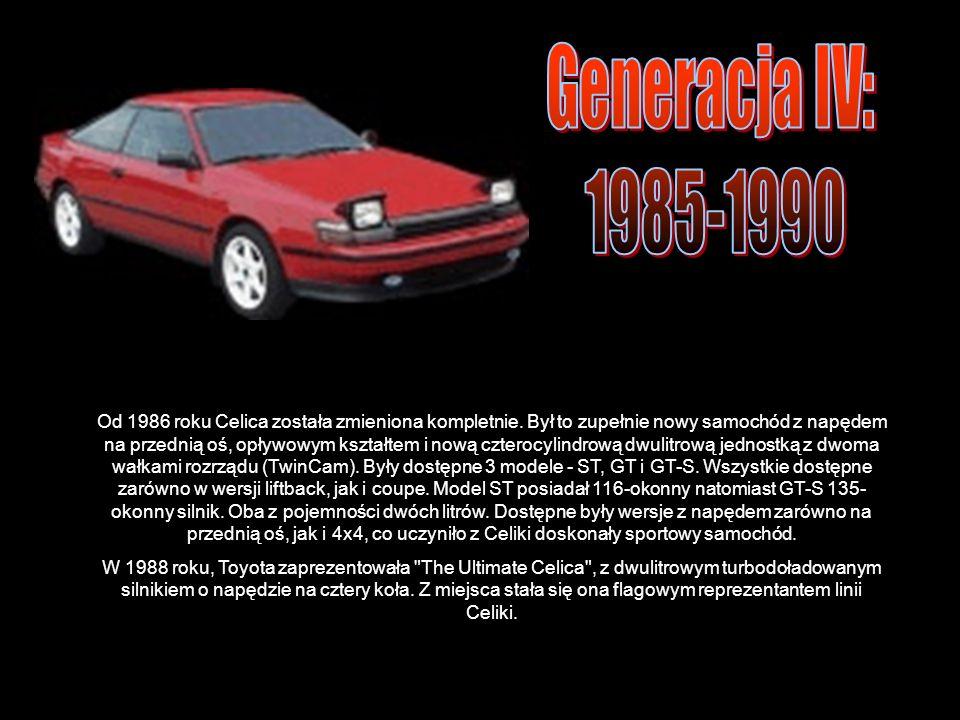 Od 1986 roku Celica została zmieniona kompletnie.