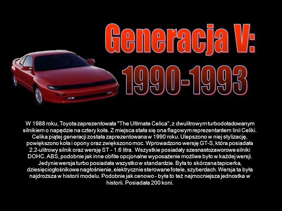 Celika piątej generacji została zaprezentowana w 1990 roku.