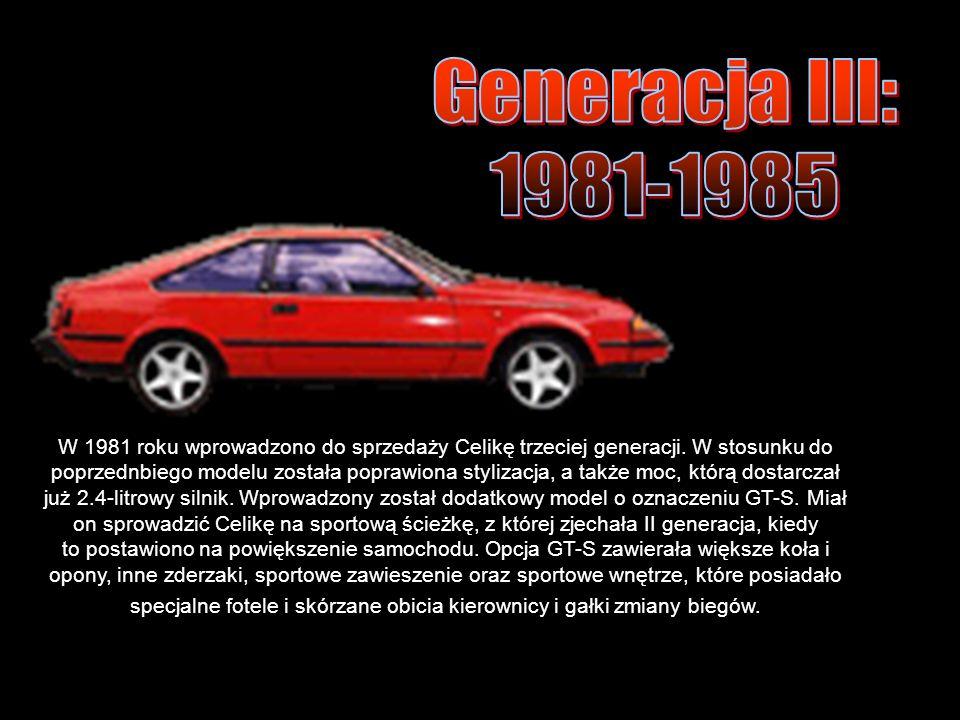 W 1981 roku wprowadzono do sprzedaży Celikę trzeciej generacji.