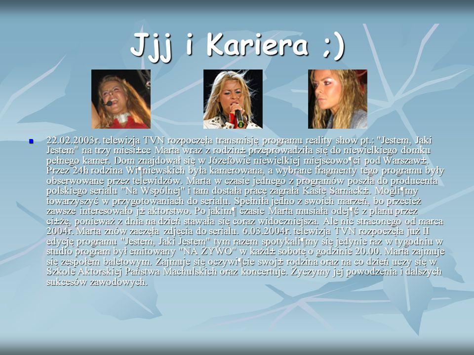 Jjj i Kariera ;) 22.02.2003r. telewizja TVN rozpoczęła transmisję programu reality show pt.: