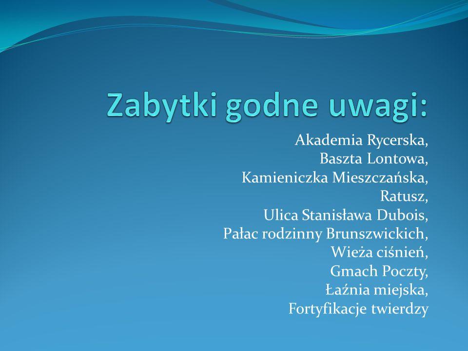 Pomnik Sanitariuszki Do tego są jeszcze: Pomnik Komandora Mieszkowskiego Pomnik Tysiąclecia Lapidarium Niemieckie Lapidarium żydowskie Pomnik podporuc