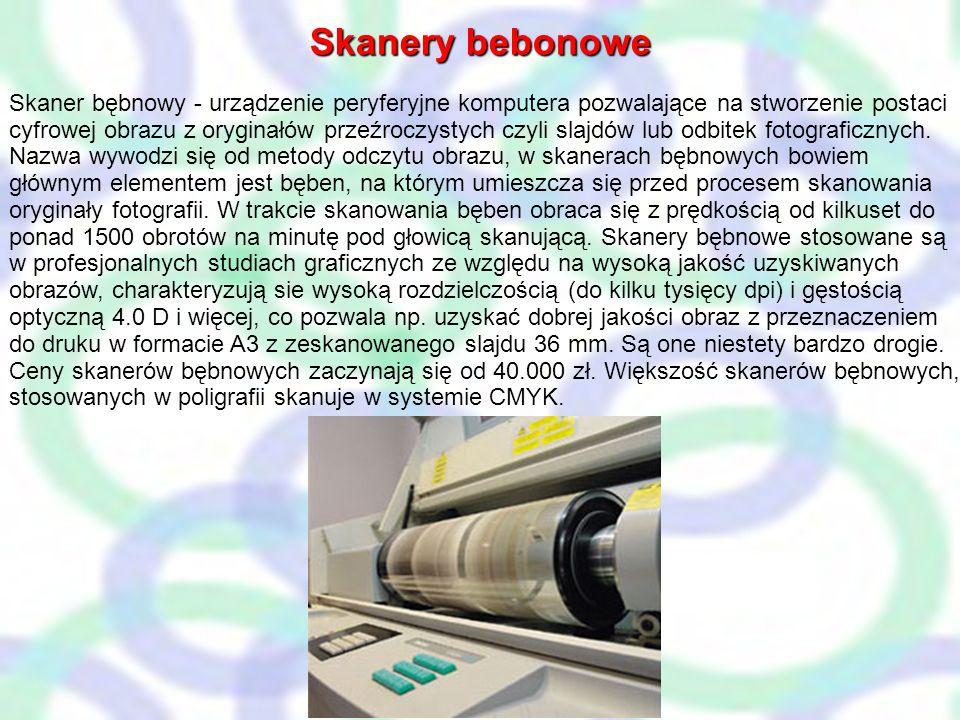 Gęstość optyczna Gęstość optyczna to jeden z podstawowych parametrów mówiących o jakości skanera. Oznacza zdolność rozróżniania szczegółów w najciemni
