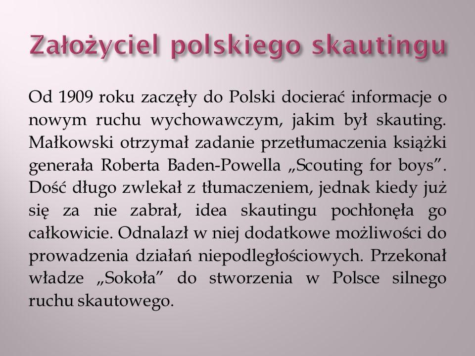 W marcu 1911 roku poprowadził we Lwowie pierwszy kurs skautowy dla 200 uczestników.