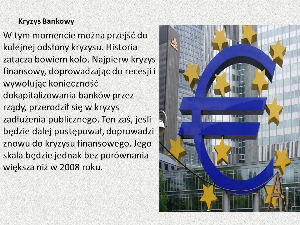Kryzys Bankowy W tym momencie można przejść do kolejnej odsłony kryzysu. Historia zatacza bowiem koło. Najpierw kryzys finansowy, doprowadzając do rec