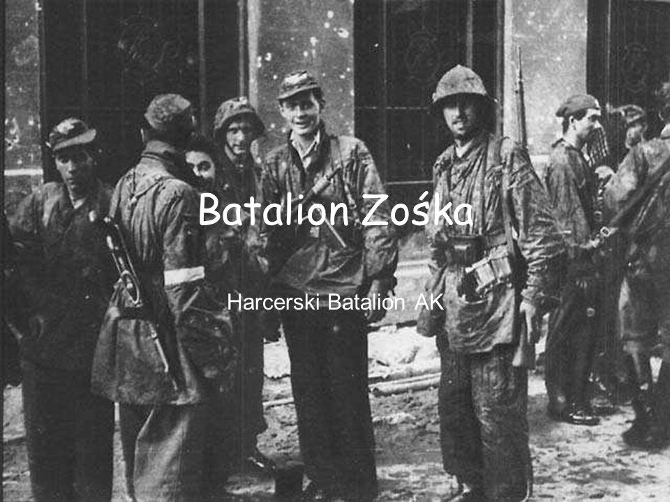 Batalion Zośka Batalion Zośka, harcerski batalion warszawskich Grup Szturmowych Szarych Szeregów, podlegający pod względem wojskowym Kierownictwu Dywersji Komendy Głównej AK