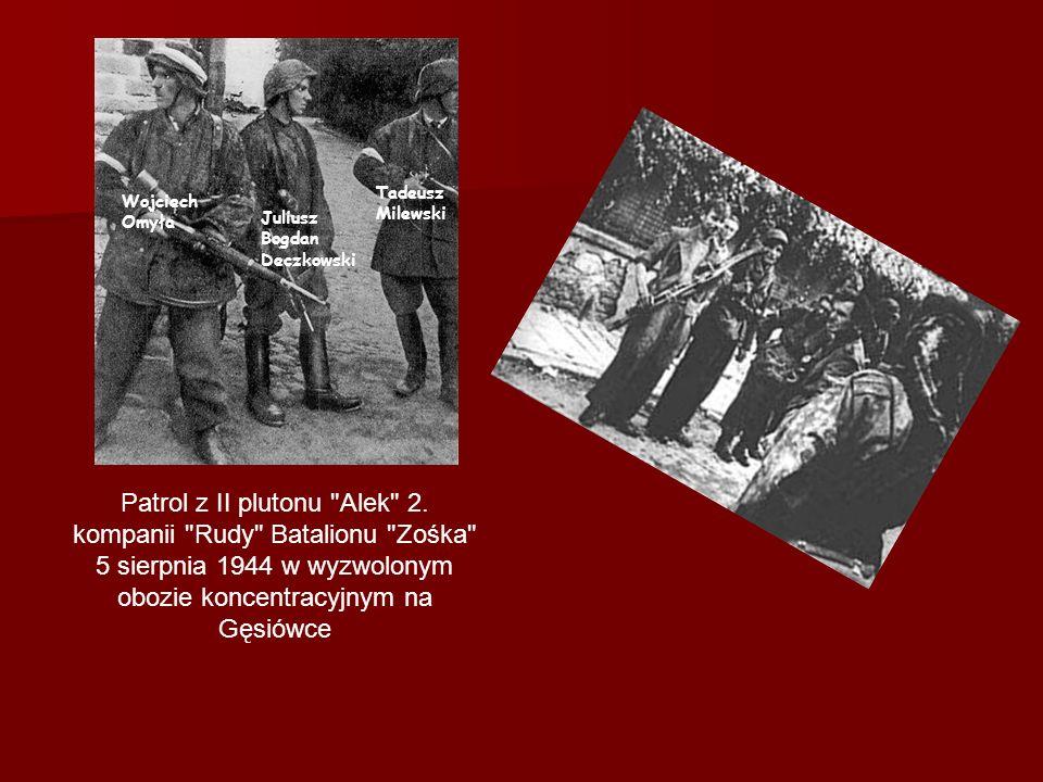 Skład Zośki 1.kompania Maciek –I pluton Włodek –II pluton –III pluton –IV pluton 2.