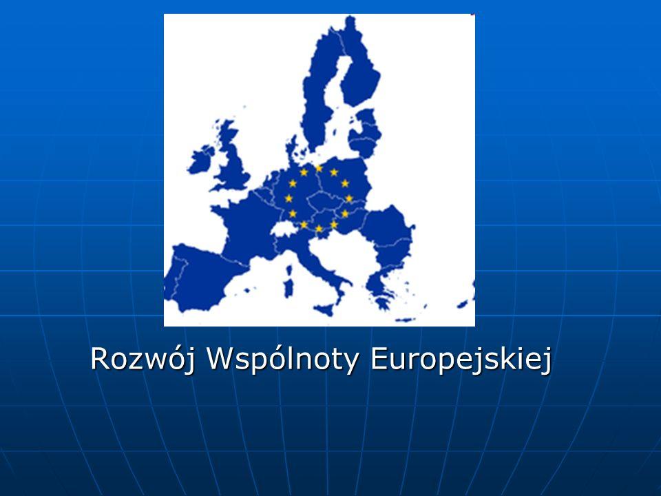 Rozwój Wspólnoty Europejskiej