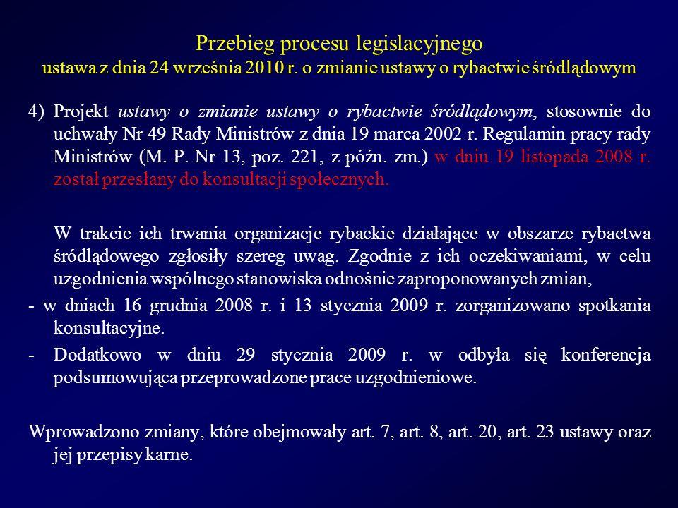 Przebieg procesu legislacyjnego ustawa z dnia 24 września 2010 r.