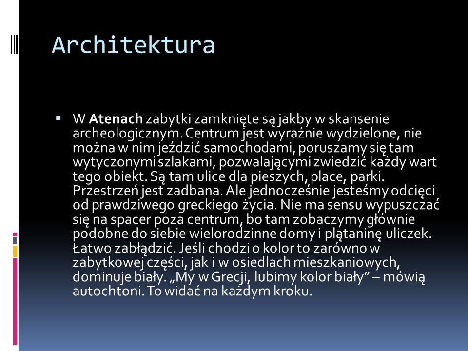 Położenie W Atenach mieszka około 19.000 ludzi na kilometr kwadratowy, w Warszawie około 3.300.