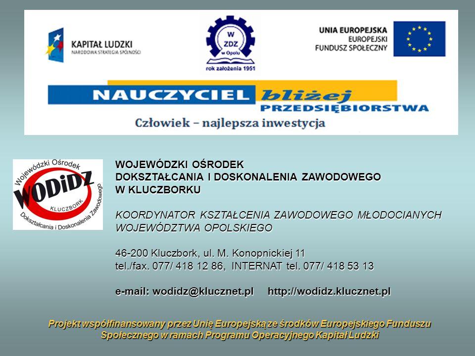 Podstawa prawna działalności WODiDZ w Kluczborku Rozporządzenie Ministra Edukacji Narodowej i Sportu z dnia 13 czerwca 2003r.