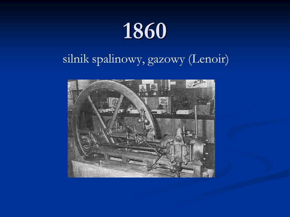 1860 silnik spalinowy, gazowy (Lenoir)