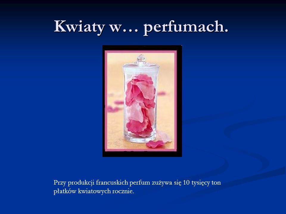 Kwiaty w… perfumach. Przy produkcji francuskich perfum zużywa się 10 tysięcy ton płatków kwiatowych rocznie.
