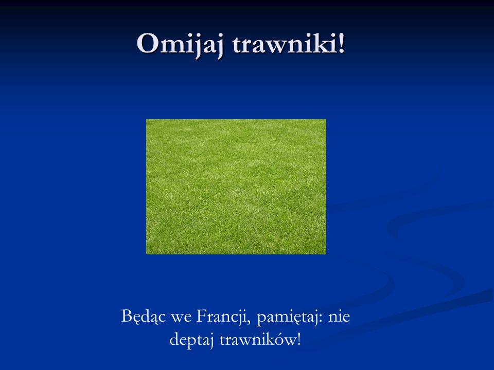 Omijaj trawniki! Będąc we Francji, pamiętaj: nie deptaj trawników!