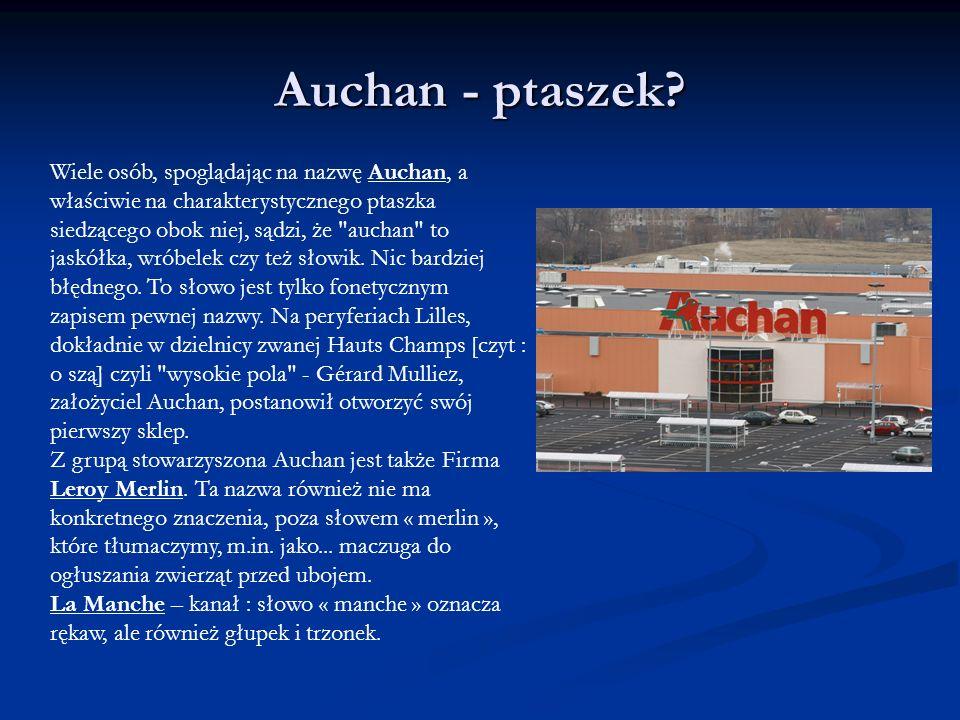 Auchan - ptaszek? Wiele osób, spoglądając na nazwę Auchan, a właściwie na charakterystycznego ptaszka siedzącego obok niej, sądzi, że