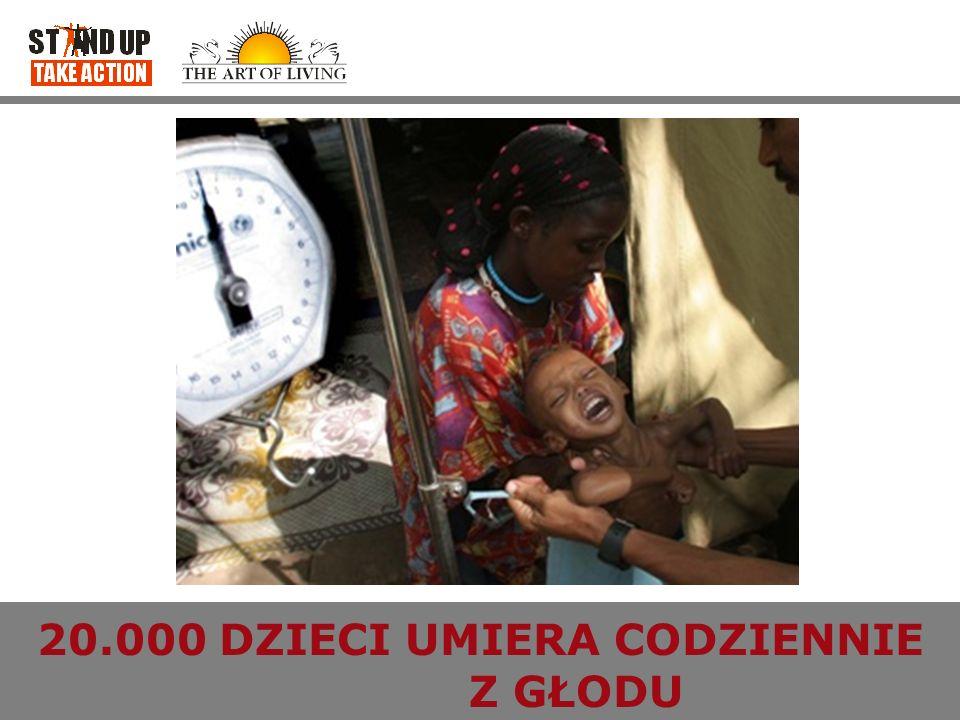 MILENIJNE CELE ROZWOJU Wyeliminować skrajne ubóstwo i głód zmniejszyć o połowę liczbę ludzi żyjących za mniej niż 1 dolara dziennie i tych którzy cierpią z powodu głodu