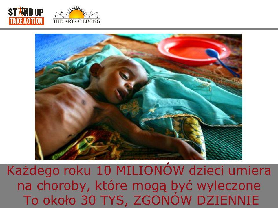 Każdego roku 10 MILIONÓW dzieci umiera na choroby, które mogą być wyleczone To około 30 TYS, ZGONÓW DZIENNIE