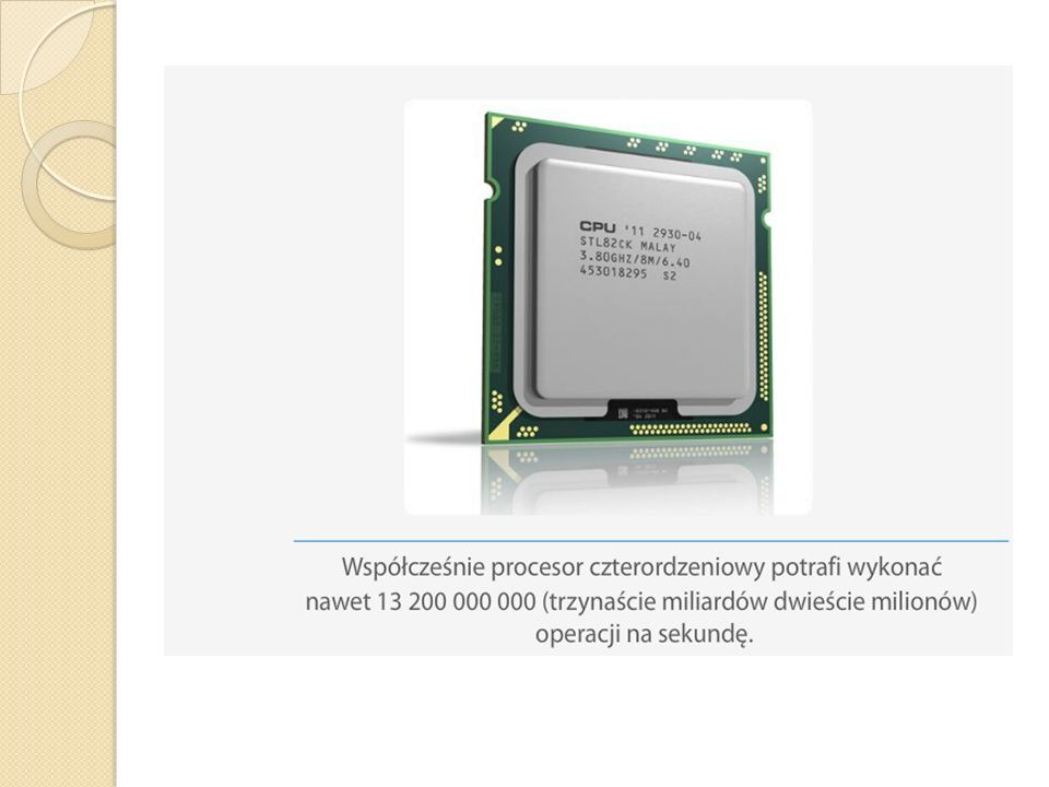 Pamięć operacyjna RAM Znajdują się w niej programy aktualnie działające w komputerze.