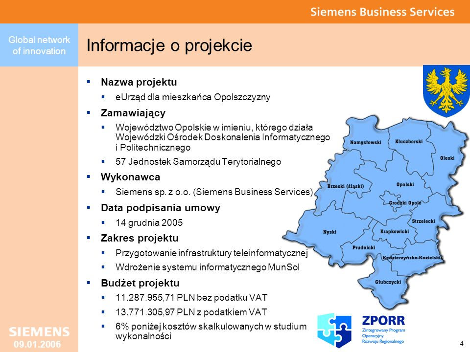Global network of innovation 5 09.01.2006 Kluczowe dokumenty kontraktu Umowa z dn.