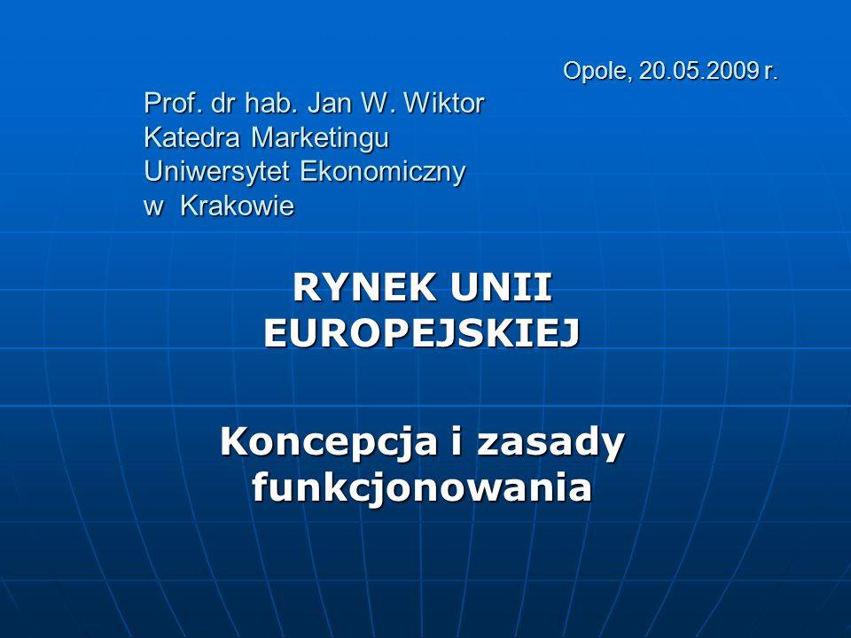 Opole, 20.05.2009 r. Prof. dr hab. Jan W. Wiktor Katedra Marketingu Uniwersytet Ekonomiczny w Krakowie Opole, 20.05.2009 r. Prof. dr hab. Jan W. Wikto