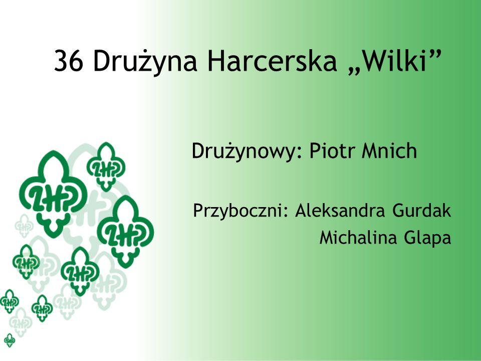 36 Drużyna Harcerska Wilki Drużynowy: Piotr Mnich Przyboczni: Aleksandra Gurdak Michalina Glapa