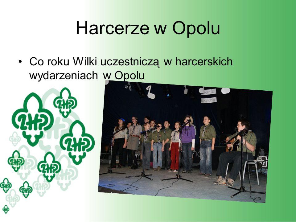 Harcerze w Opolu Co roku Wilki uczestniczą w harcerskich wydarzeniach w Opolu