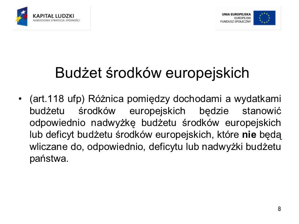 19 Konsekwencje zmian Dualizm środków wypłacanych na rzecz beneficjenta –Różne reżimy rozliczania Dotacja celowa – zasada jednoroczności budżetu Płatność – brak zasady jednoroczności budżetu –Dwa źródła wypłaty środków Wkład UE – Płatnik (BGK) Współfinansowanie z budżetu państwa – właściwy dysponent albo BGK lub budżet samorządu województwa