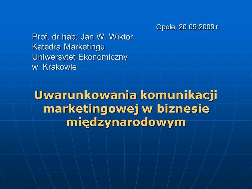 Opole, 20.05.2009 r.Prof. dr hab. Jan W.