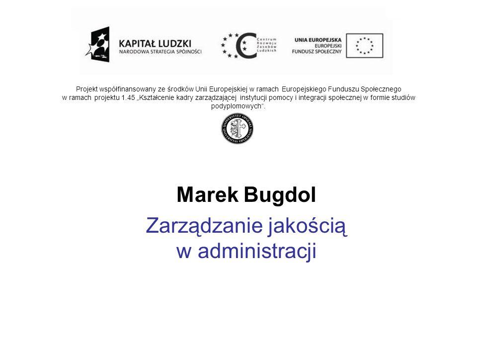 Projekt współfinansowany ze środków Unii Europejskiej w ramach Europejskiego Funduszu Społecznego w ramach projektu 1.45 Kształcenie kadry zarządzając