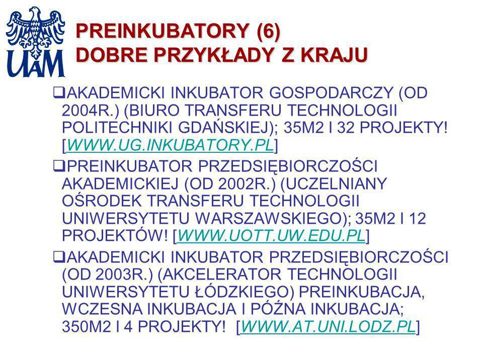 PREINKUBATORY (6) DOBRE PRZYKŁADY Z KRAJU AKADEMICKI INKUBATOR GOSPODARCZY (OD 2004R.) (BIURO TRANSFERU TECHNOLOGII POLITECHNIKI GDAŃSKIEJ); 35M2 I 32