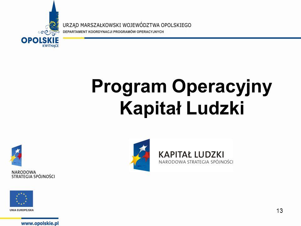 13 Program Operacyjny Kapitał Ludzki