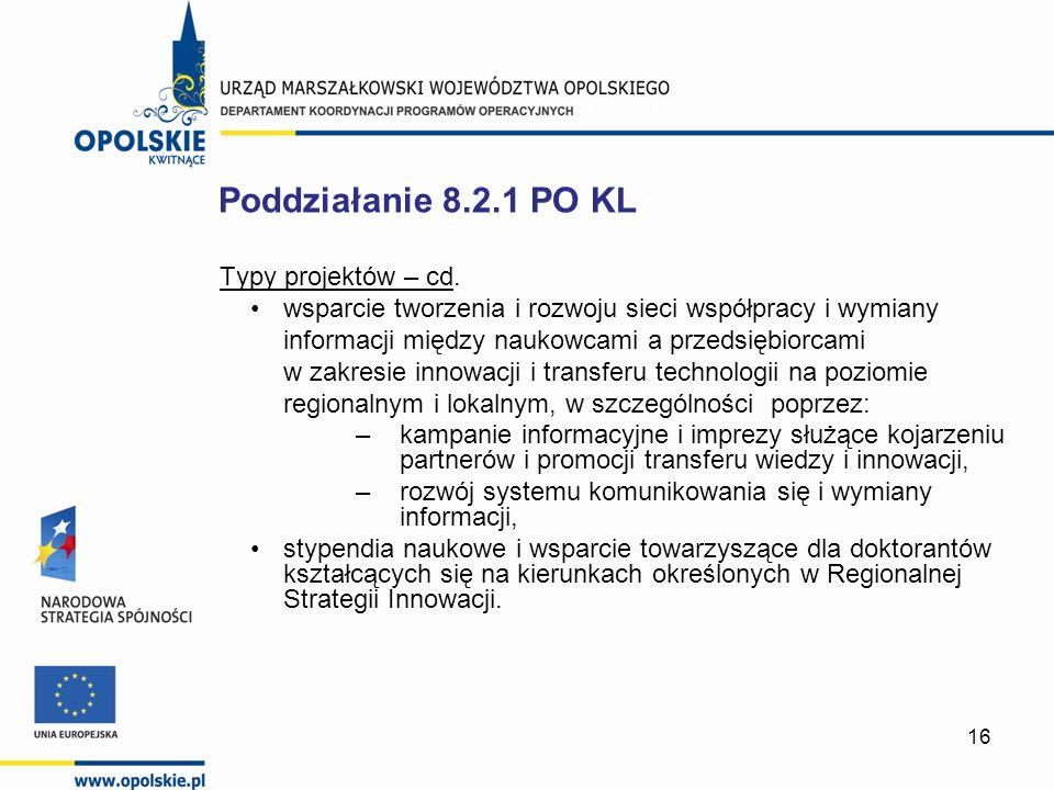 16 Typy projektów – cd.