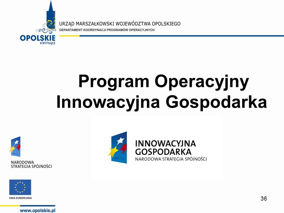 36 Program Operacyjny Innowacyjna Gospodarka