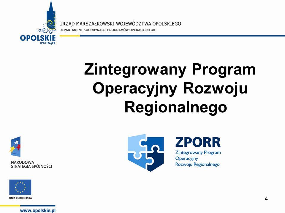 4 Zintegrowany Program Operacyjny Rozwoju Regionalnego