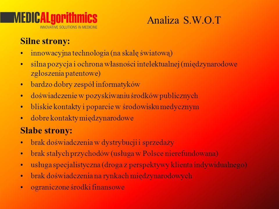 Analiza S.W.O.T Silne strony: innowacyjna technologia (na skalę światową) silna pozycja i ochrona własności intelektualnej (międzynarodowe zgłoszenia